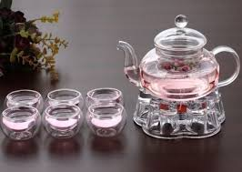home teaware teaware glass teaware tea set 8 piece glass tea set 800ml teapot with infuser teapot warmer 6 cups