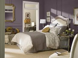 Purple is the picture-perfect color for a luxurious bedroom .