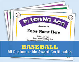 parenting certificate templates baseball certificates templates awards create your own