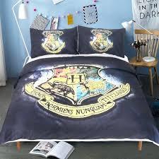harry potter bedding harry potter bedding set dark blue school emblem duvet cover soft microfiber bed harry potter bedding