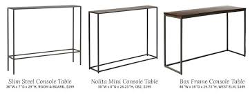 slimline console table. lovely slimline console table and choosing a mirror for an entryway making it l
