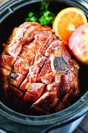 crockpot ham with maple brown sugar glaze