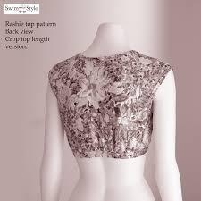 Crop Top Pattern Stunning Rashie Top Swim Vest Sewing Pattern Women Swim Style