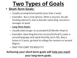 long term and short term career goals examples short medium and long term goals essay mistyhamel