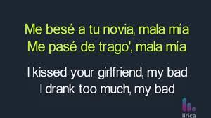 Maluma Mala Mía Lyrics English Spanish English Translation English Lyrics