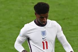 Lettering in blue paint was daubed over the black and white. Marcus Rashford Reveals Man Utd Worry As England Star Focuses On Euro 2020 Mirror Online