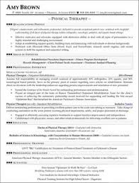 Therapist Resume Template Shocking Ideas Physical Therapy Resume Sample 8 Professional