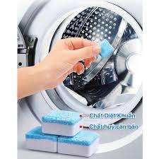 Viên vệ sinh lồng máy giặt tẩy rửa khử mùi máy cửa trước ngang trên đứng  tại nhà [ hộp 12 ] giá cạnh tranh