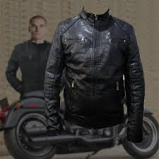 jendex 688 motorcycle leather jacket men biker moto jacket black