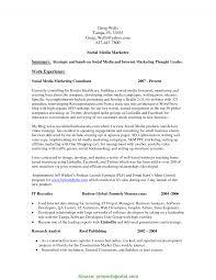 Great Social Media Marketing Cv Social Media Marketing Resume Cover