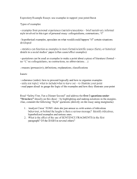 Thesis Example Essay Expository Example Essays Use Examples To Support Your