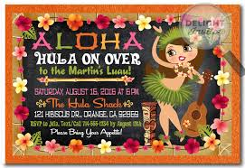 Hula Girl Hawaiian Luau Invitations Di 431 Harrison Greetings