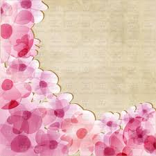 Design Paper Background Flower Pink Flowers On Old Paper Background Stock Vector Image