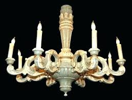 antique wood chandeliers french wooden chandelier painted antiques country