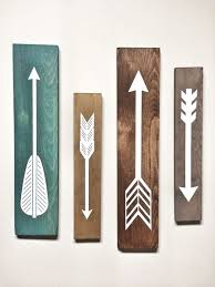 rustic office decor. rustic white wooden arrows 4 piece set decor farmhouse arrow nursery gallery wall by cherrytreegallery office