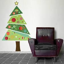 Wall Xmas Decorations Fabric Christmas Tree Wall Sticker Christmas Trees Tree Wall
