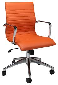 orange office furniture. pastel janette office chair chrome and aluminum pu orange traditional officechairs furniture