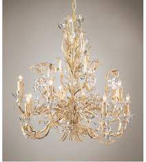 wildwood lamps crystal flowers chandelier in gold and antique white on iron 2883 photo