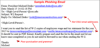 Phishing Emails Impersonating University Leaders Office Of