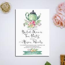 Tea Invitations Printable Bridal Shower Tea Party Invitation Printable Aisle Society