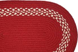 braided rug red check rugs and white checd outdoor cream band