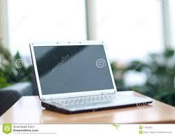 laptop office desk. Thin Laptop On Office Desk