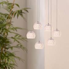 Industrielle Vintage Kronleuchter Lampe 6 Anhänger Küchenbar Oval Deckenbaldachin Neu
