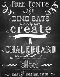 chalkboard fonts free free chalkboard font template business