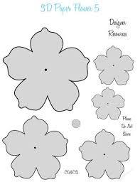 Flower Templates For Paper Flowers 3d Paper Flower Templates 5 Cu4cu Pittura Su Tessuto