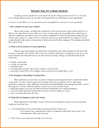 5 Job Resume For College Student Job Resume Examples For College