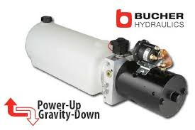 12v hydraulic power pack dump trailer hydraulic pump dyna jack 12 volt dc single acting dump trailer hydraulic pump