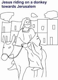Small Picture Jesus Riding On Donkey Coloring Page For Kids Coloring Page Of