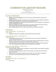 Janitor Resume Sample Template Adorable Combination Janitor Resume Sample Download This Resume Sample To