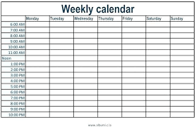 Weekly Calendar With Time Slots Template Weekly Calendar Template With Times Excel Time Slots Holidays