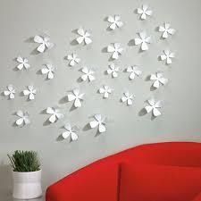 umbra wallflower wall decor  white wall flowers