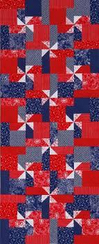 Pinwheel Quilt Patterns | AllPeopleQuilt.com & Patriotic Pinwheels Table Runner Adamdwight.com