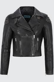 Leather Jacket With Design On Back