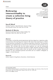 PDF) Embracing intersectionality to create a collective living theory of  practice