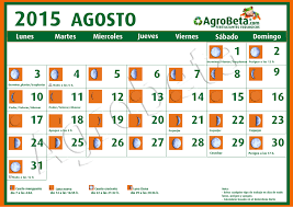 Calendario 2015 Argentina Calendario Lunar Para Agosto De 2015 Blog De Agrobeta Com