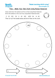 Make A Clock Using Roman Numerals Tmk Education