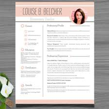 Editable Resume Template Cool Resume Template Cover And Reference Letter Peach Color