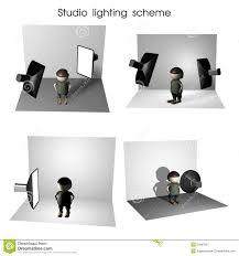 lighting scheme. studio lighting scheme royalty free stock photography g