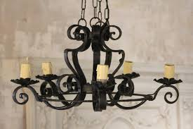 photo 2 of 8 nice antique wrought iron chandelier 2 french vintage wrought iron 5 arm chandelier with