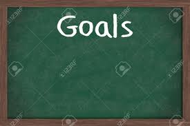 writing your goals down on a blackboard business or personal stock photo writing your goals down on a blackboard business or personal goals