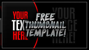 Psd Download Free Thumbnail Template Psd Free Download Free Gfx Youtube