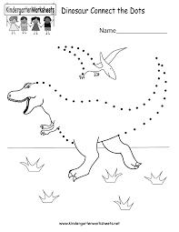 Dinosaur Connect The Dots Free Kindergarten
