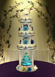 blue wedding cakes fountain. Beautiful Blue Blue Wedding Cakes With Fountains Throughout Blue Wedding Cakes Fountain A