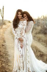 long sleeve bohemian wedding dress weddingcafeny com