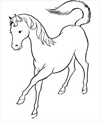 9 horse coloring pages free pdf