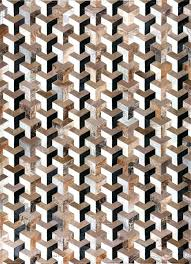 cowhide patchwork rug brown black white infinity by mosaic rugs luxury handcrafted brown white patchwork cowhide